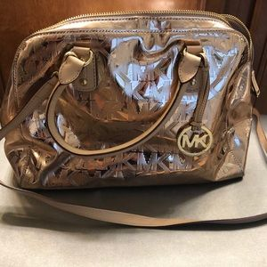 Michael Kors rose gold satchel